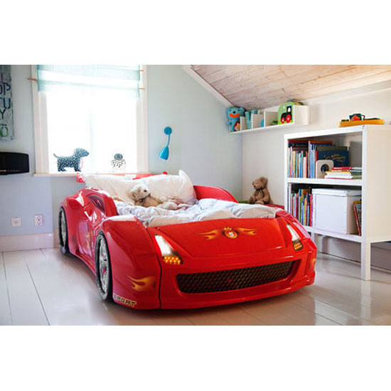 Lamborghini Furniture: Lamborghini Childrens Racing Car Bed Black With LED Lights