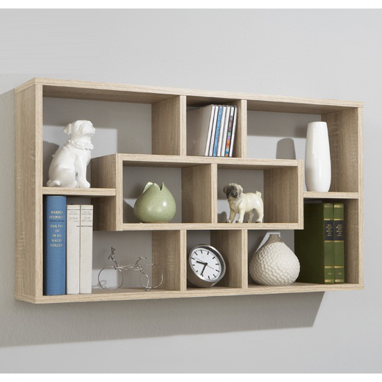 Canadian oak home wall shelves lasse 13260 furniture in - Etagere 40 cm largeur ...