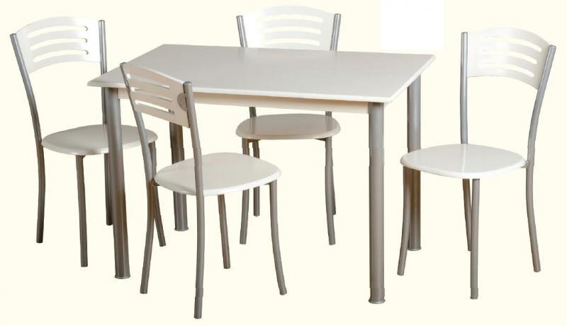 Aura Rectangular Dining Set And 4 Chairs