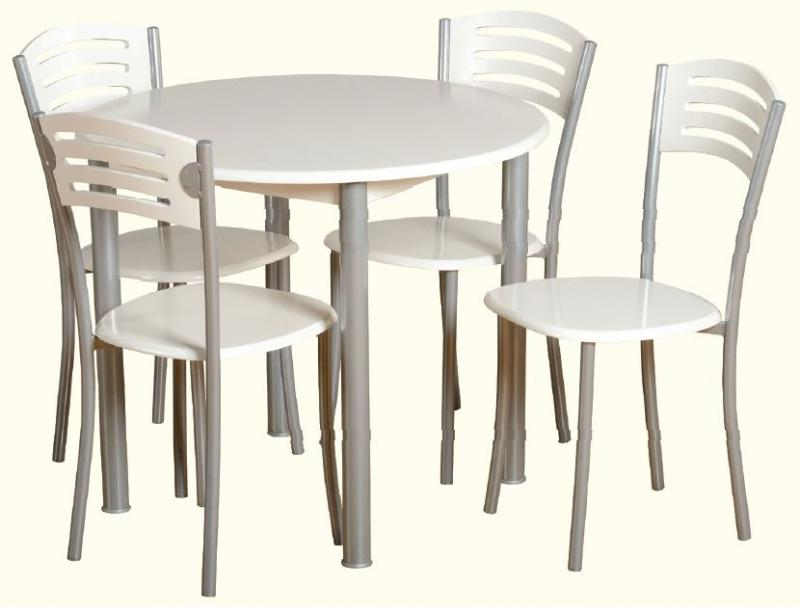 Aura Rectangular Dining Set & 4 Chairs