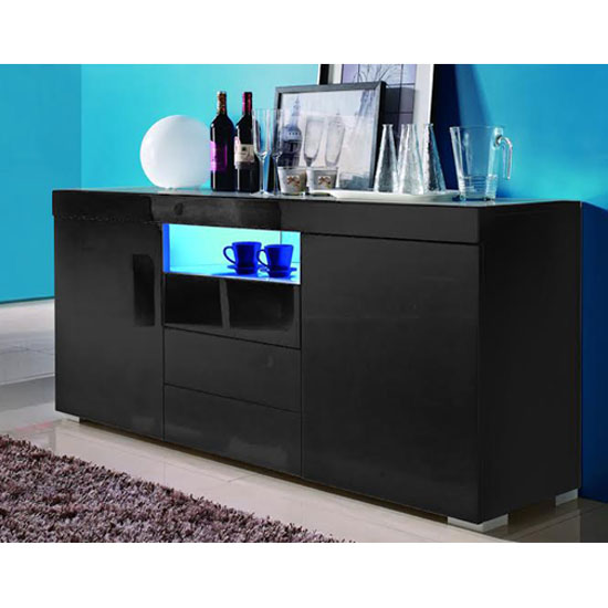 Lazy Modern Sideboard In Black High Gloss With LED 20239 Fur : Lazyblacksideboardwithl from www.furnitureinfashion.net size 550 x 550 jpeg 40kB