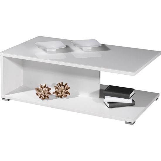 Linea Opti White GlassTop Coffee Table