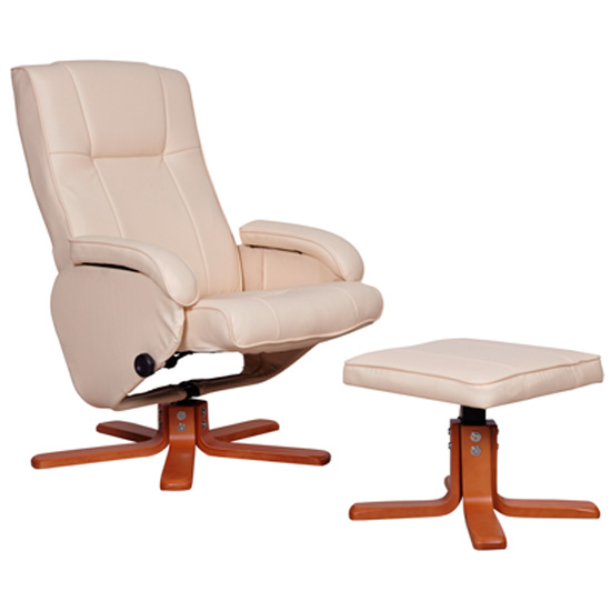 Lima Ivory Relax Chair with Footstool LIM01