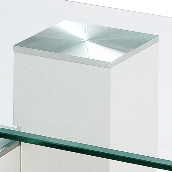 Linen Coffee Table In Clear Glass With Stainless Steel Base_2