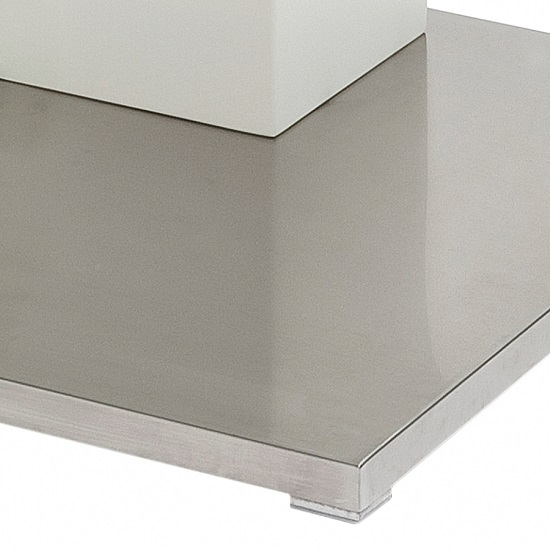 Linen Coffee Table In Clear Glass With Stainless Steel Base_3