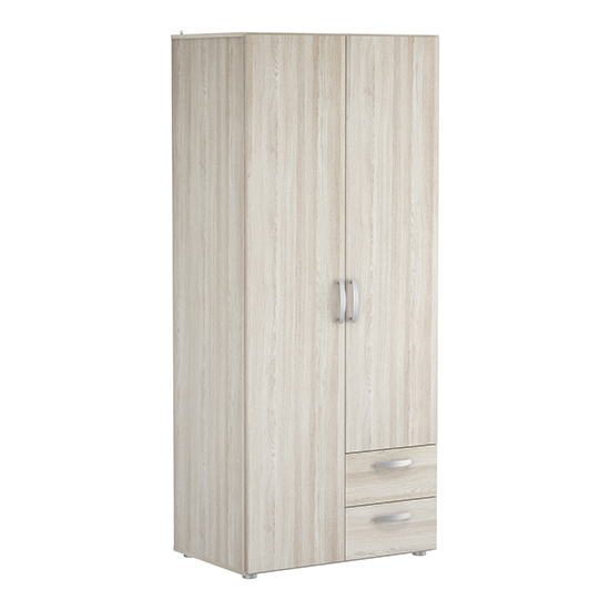 Lola Wardrobe In Shannon Oak With 2 Doors And 2 Drawers