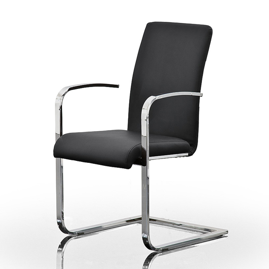 Cheap Leather dining chairs with chrome legs best UK  : Lotte20AL20schwarz from new.priceinspector.co.uk size 550 x 550 jpeg 111kB