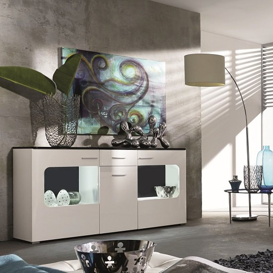 Foster Sideboard In High Gloss Fronts And LED lighting_1