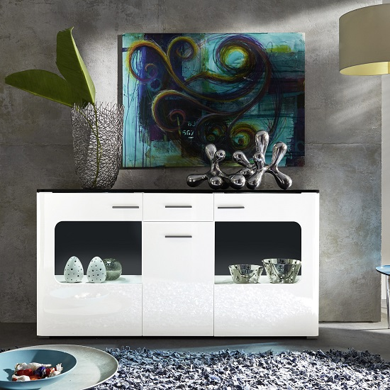 Foster Sideboard In High Gloss Fronts And LED lighting_2