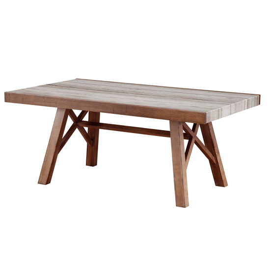 Illumi Dining Table In Natural Marble And Ash Wood In Walnut