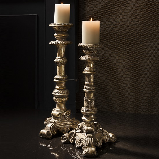 Read more about Lumen stylish candle holder small in burnished gold