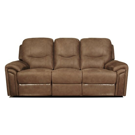 medina recliner 3 seater sofa in light brown leather look. Black Bedroom Furniture Sets. Home Design Ideas