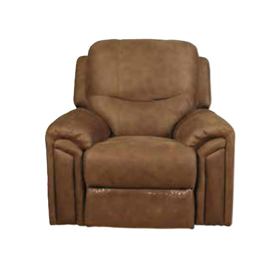 medina recliner sofa chair in light brown leather look. Black Bedroom Furniture Sets. Home Design Ideas