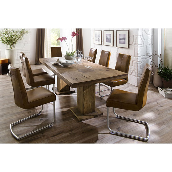 Mancinni 10 seater wooden dining table with flair dining for 10 seater dinning table