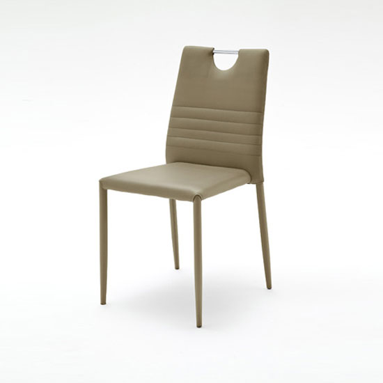 Meda Dining Chair In Cappuccino Tubular With PU Coated