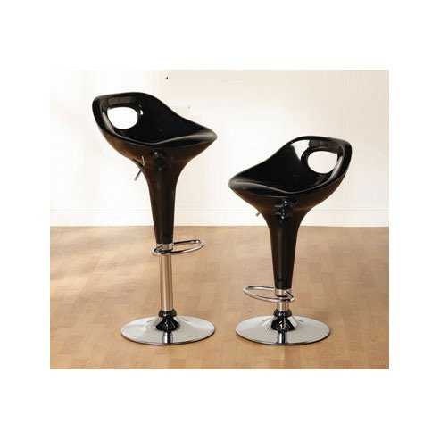 MIAMI BARCHAIR BLACK - Backless Bar Stools, For Use In Theme Decors