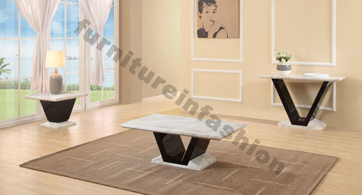 Midas Gloss Black Marble Lamp Table