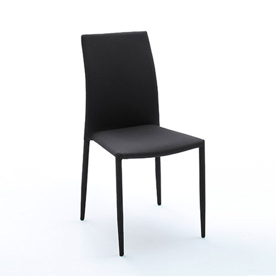 mila upholstered black dining chair 21902 furniture in. Black Bedroom Furniture Sets. Home Design Ideas