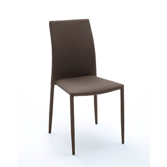Mila Upholstered Brown Dining Chair