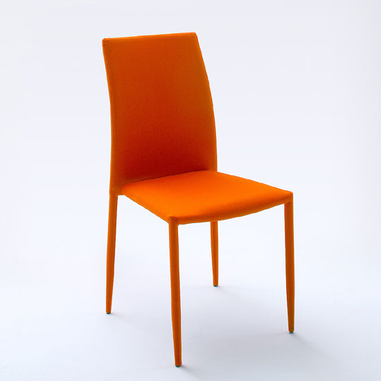 Orange Dining Chairs: Mila Upholstered Orange Dining Chair 21901 Furniture In