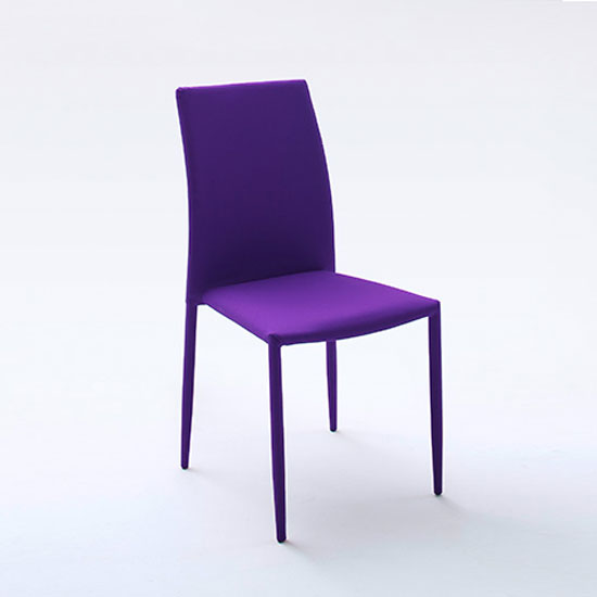 Mila Upholstered Violet Dining Chair