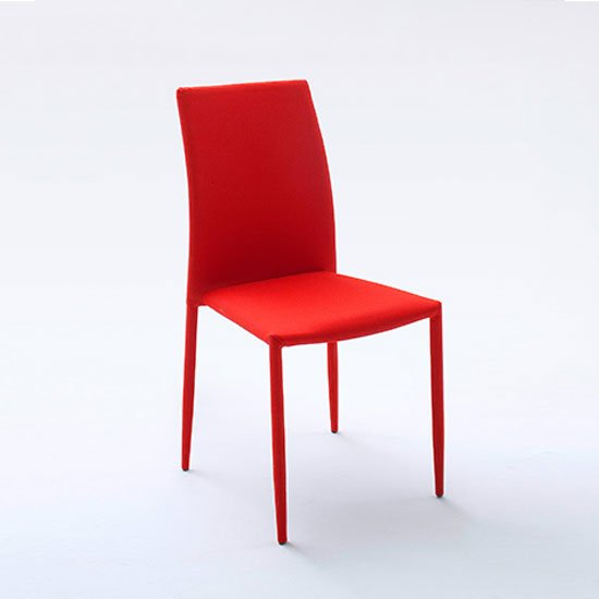 Mila Upholstered Red Dining Chair 21841 Furniture In