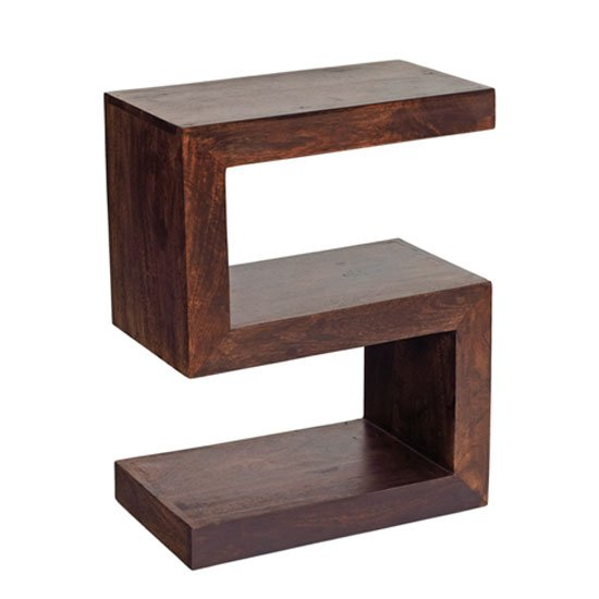 Mango Wood S Shape Display Unit
