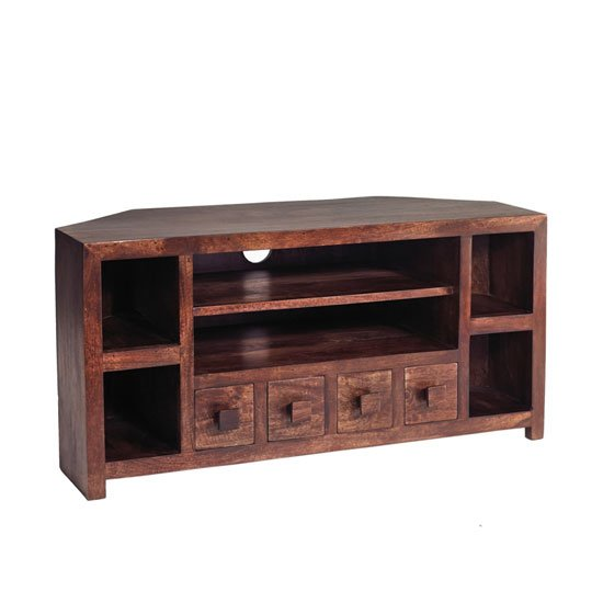 Mango wood corner tv unit 16977 furniture in fashion for Furniture in fashion