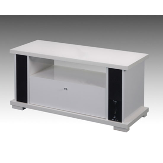 white mu box high gloss polyboard with sound bar system. Black Bedroom Furniture Sets. Home Design Ideas