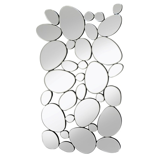 Rosie Decorative Wall Mirror Rectangular In Silver