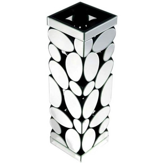 Read more about Rosie vase in silver with pebble pattern mirror