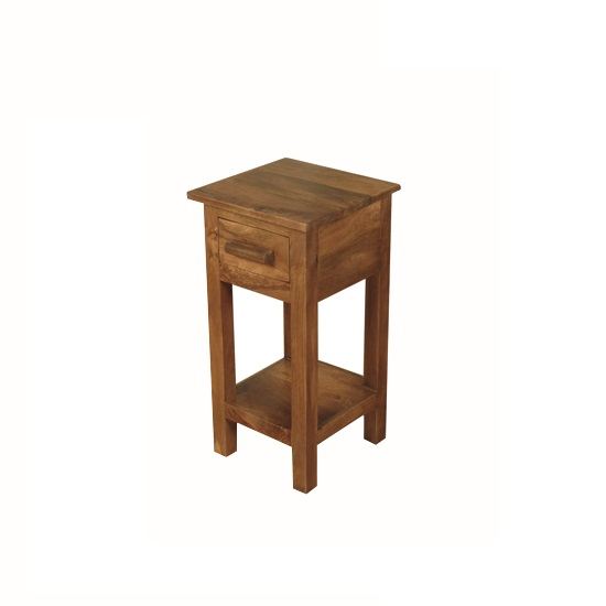 Merino Small Telephone Table In Mango Wood With Gloss Touch