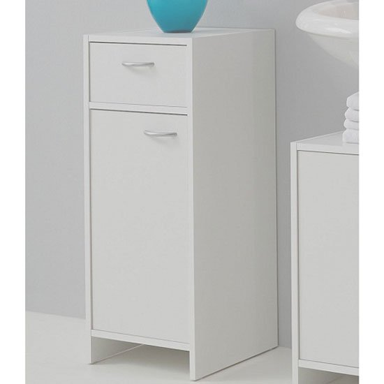 3 drawer bathroom floor cabinet white for Bathroom floor cabinet