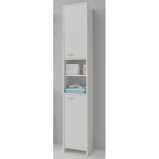 high cabinet for bathroom madrid3 bathroom high cabinet in white with 2 door 23364 16296