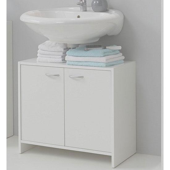Photo of Madrid7 bathroom vanity cabinet in white with 2 door