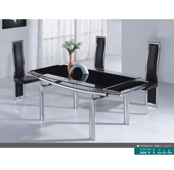 Mariah Extending Dining Set With 6 D219 Chairs