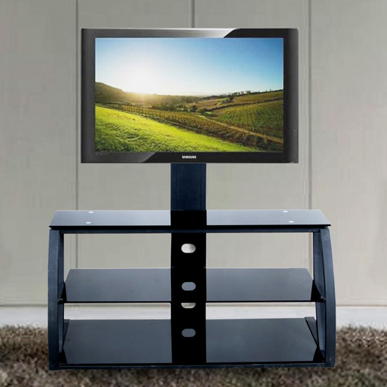 Marin TV Unit - 5 Reasons To Buy Black Glass TV Stand With Mount