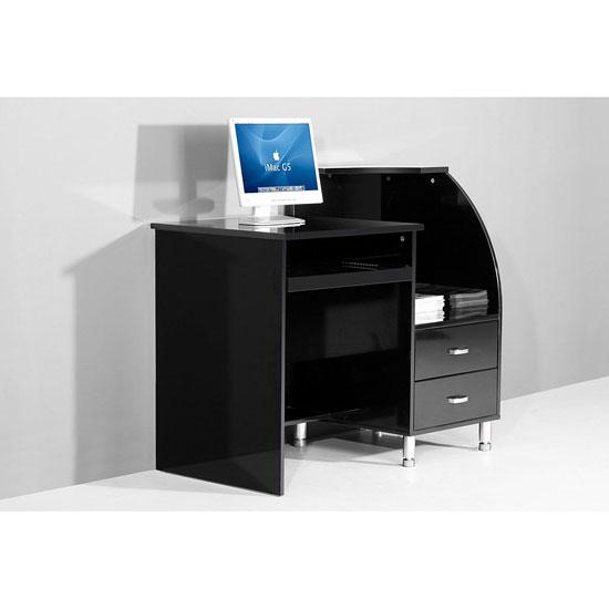 Black Computer Desk High gloss computer desk