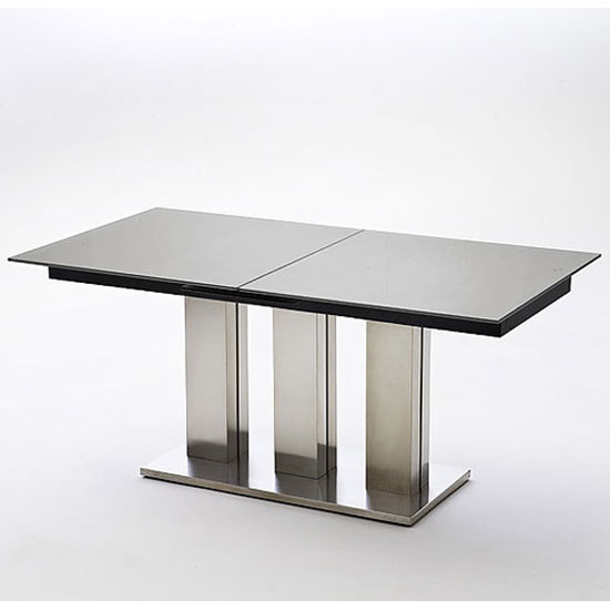 Massimo Black Glass Extending Dining Table