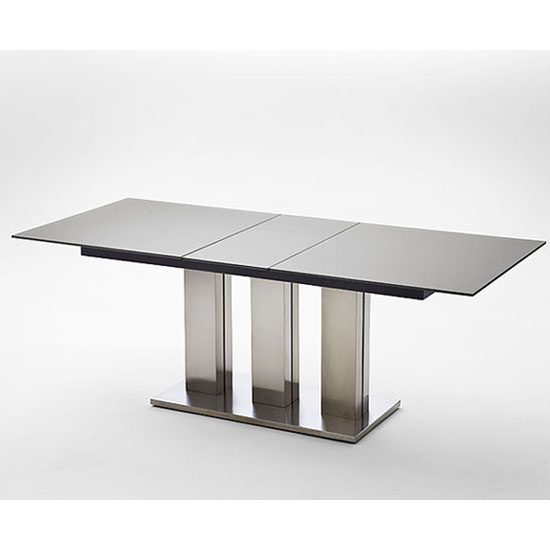 massimo black extending glass dining table 180 to 220 cm. Black Bedroom Furniture Sets. Home Design Ideas