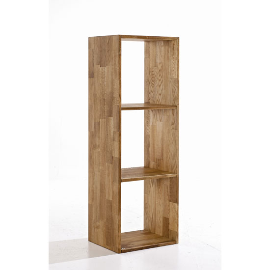 Maxio Solid Oak 3 Cube Display Stand
