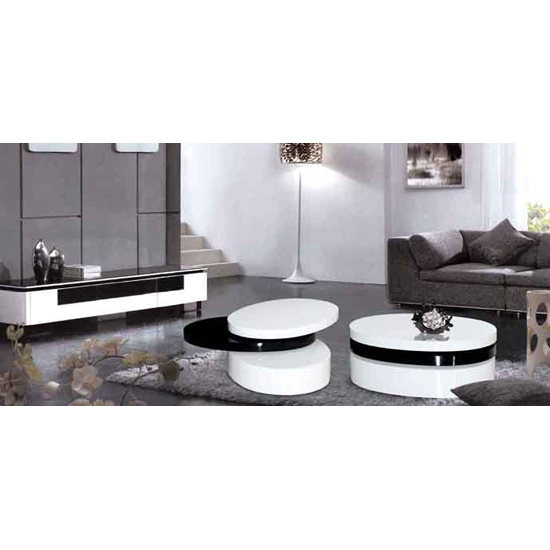 Add more functionality in a living room by buying coffee tables with matching end tables