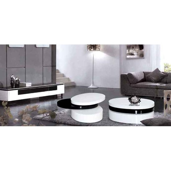 Mayfair Black and White Coffee Table - Add more functionality to a living room by buying coffee tables with matching end tables.