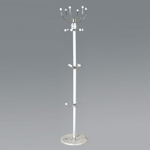 Mecki Coat Stand In White And Chrome Finish