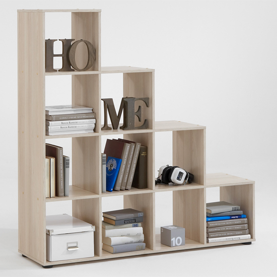 Mega2 Display Shelves In Ashtree With 4 Tiers