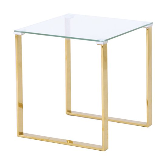 Megan Clear Glass Side Lamp Table With Gold Legs_1