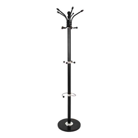 Melissa Metal Coat Stand In Black With Marble Base