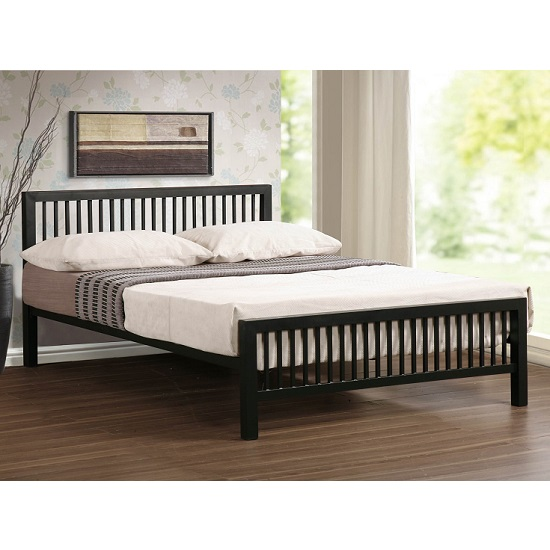 Meridian ultra modern bed in black metal 27146 furniture in - Ultra modern beds for boys ...