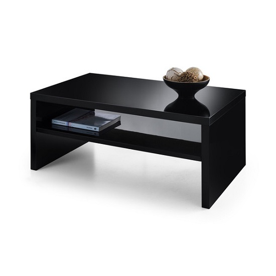 Metric Coffee Table In Black High Gloss With UnderShelf_1