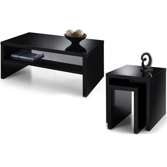 Metric Coffee Table In Black High Gloss With UnderShelf_2